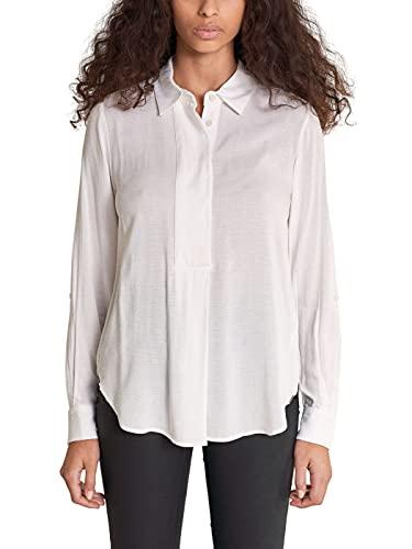 Salsa Jeans Camisa de Manga Larga con Cuello para Mujer Mujer Color: 0071 Blanco Perla Talla: XXL