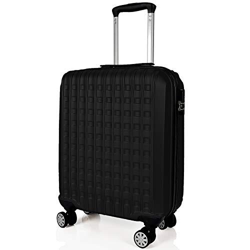 SIGN Wellsigned Reisekoffer Sondermaß Handgepäck, mit 4 laufruhigen 360° Doppelrollen (Schwarz, M)