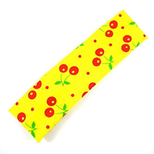 rougecaramel - Accessoires cheveux - Bandeau enfant motif cerise - jaune