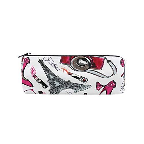 Ahomy Federmäppchen, Parfüm, Eifelturm, Schuhe, Stifteetui, Federmäppchen, Tasche für Schule, Büro, Kosmetik, Make-up-Tasche für Frauen