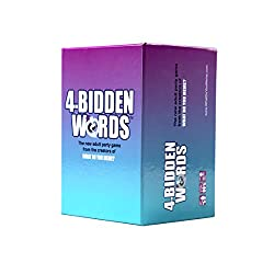 Word board games for adults, 4-Bidden Words purple to blue ombre game box