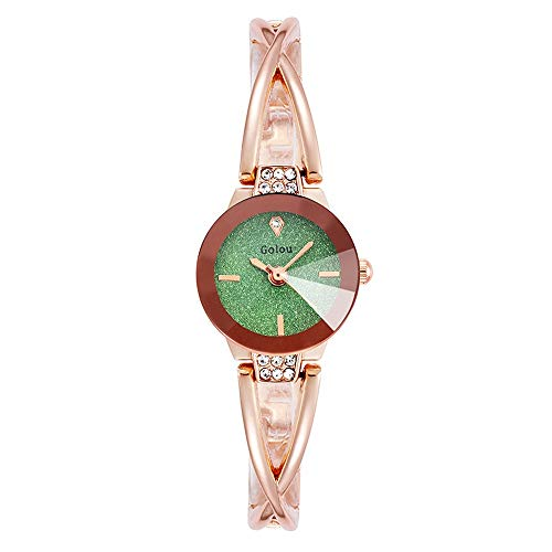 GS008 Girls Watch Korean Simple Tide College Wind Retro Sen Women's Waterproof Wild Student Bracelet Watch (Color : #1)