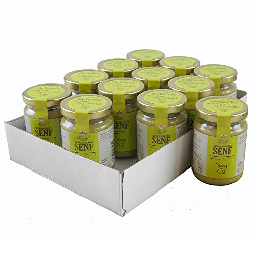 Koals Spreewälder Honig-Dill Senf 12er Set (12 Gläser à 158 ml)