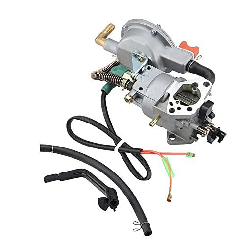 TOPINCN Carburador De Combustible Dual Manual para Honda Gx390 188F 190F Generador De Gas 17210-Ze3-505 Filtro De Aire Depósito De Combustible De Gas Filtro De Junta Bombas De Agua para Cortacésped
