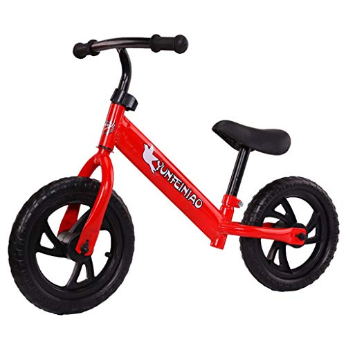 WEI MOLO@ 12 Inch Childs Lightweight Mini Removable Bike Small Protable Without Pedal Bike Red