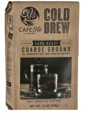 HEB Cafe Ole Cold Brew Dark Roast Coarse Ground Coffee - 12...
