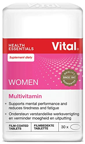 Vital Women – Multivitamina Daily Oral Inmunitario Booster Suplemento de vitaminas (30 pastillas), complejo de vitamina B, calcio y magnesio