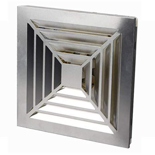 Sgfccyl ventilatie afvoerventilator plafondventilator, achterwand, 300 x 300 vorm, wilgenvormige plaat Nominale frequentie van de wilgenvormige plaat: 50 Hz Nominale spanning: 220 V dan