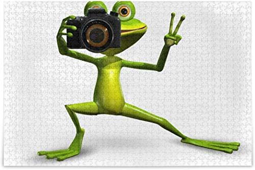 Puzzles para adultos 500 piezas – Merry Frog Funny Puzzles para niños Cool Jigsaw Puzzle regalo 15 x 20 '-500 piezas