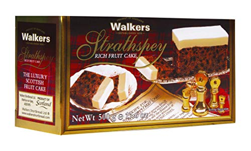 Walkers Shortbread Strathspey Rich Holiday Fruit Cake, 17.6 Ounce Box