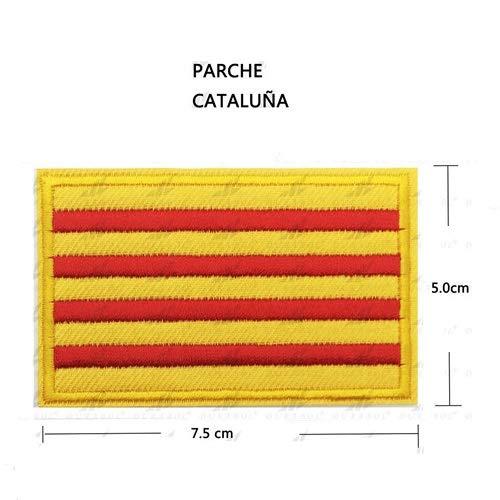 BANDERA DEL PARCHE BORDADO PARA PLANCHAR O COSER (CATALUÑA) (CATALUÑA-1)