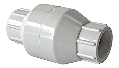 """American Valve P32S 1/2"""" PVC In-Line Check Socket Schedule 40, 1/2-Inch"""