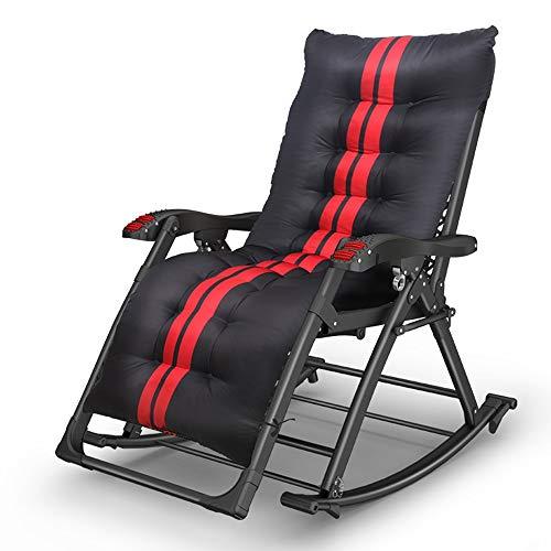Axdwfd Chaise longue Fauteuil inclinable, fauteuil pliant pour le déjeuner sieste lit multifonctionnel à bascule lit Siesta lit peut être secoué fauteuil inclinable 180 * 51 * 90cm (taille : 02)