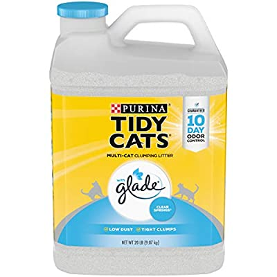 Purina Tidy Cats Clumping Cat Litter, Glade Clear Springs Multi Cat Litter - (2) 20 lb. Jugs