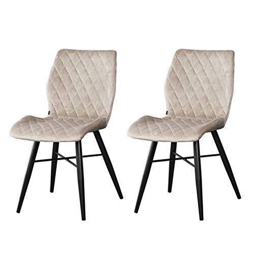 Zons - Lote de 2 sillas de Comedor con Capucha, 55 x 45 x 80 cm, Color Gris