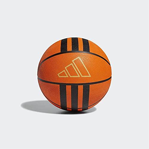 adidas 3S Rubber X2 Pelota, Adultos Unisex, NARANJ/Negro (Naranja), 7