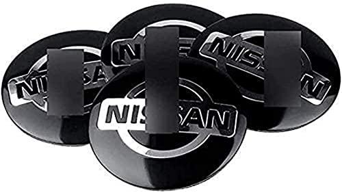 4 Stück 56mm Radnabenabdeckung Ersatzteil für Nissan Qashqai Tiida Almera Altima Teana X-Trail, Radnaben Schutzkappen Radnabendeckel Zierdeckel Generic Auto Zubehör