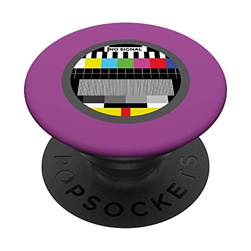 Doodle retro sin señal de falla PopSockets PopGrip Intercambiable