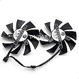 DNPART Compatible for 85mm Sapphire Vapor-X HD 7950 7970 R9 280X Dual Fan PLA09215B12H