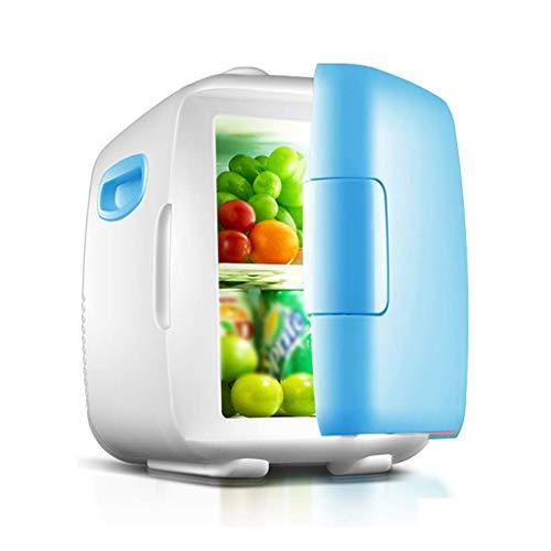 HEWEI Autokühlschrank 12L Warm und Kalt Tragbarer Minikühlschrank Geeignet für Home Office Outdoor Indoor-Blau Pink