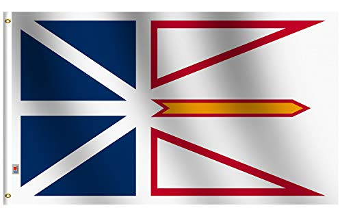 Rhungift Indoor//Outdoor Canada New Brunswick Flag 3 x 5 Quadruple Stitched Fly Ends,Screen Printed 100D Thick Polyester Canadian Province Flag-3x5Ft