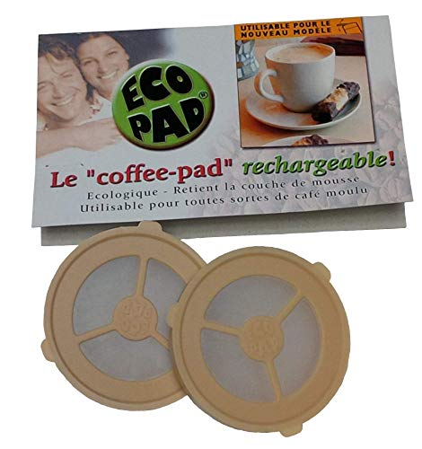 Ecopad 4-Pack The Permanent Refillable Coffee Filter for the Classic Senseo models HD7810-HD7819 - Create your own custom strength and Flavor