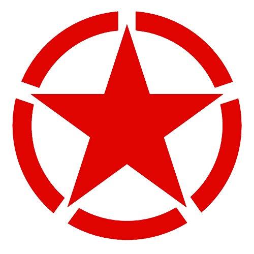 Binglinghua 5 étoiles Militaire Réfléchissant Sécurité Autocollant Voiture Moto Moto Moto GP Motocross Rouge