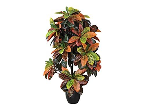 PLANTAWA Roton-Pflanze, 140 cm, künstliche Pflanze, Dekoration für Innen und Außen, Kunstpflanze mit Blumentopf für das Haus