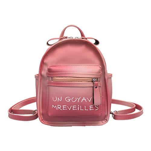 FENICAL Sac à Dos Mini Sac à Dos à la Mode pour Woemn Girl Travel Shopping (Rose)