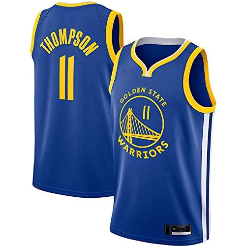 PAKUES-QO Azul - Hombres Adultos No.11 Klay Thompson Malla De Baloncesto Cool Golden State Warriors Camiseta De Baloncesto 2020/21 Temporada Camiseta De Baloncesto Deportivo Chaleco