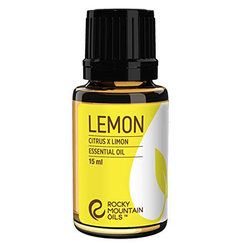 Rocky Mountain Oils Lemon Essential Oil - 100% Pure and Natural Aromatherapy Essential Oils for Diffuser, Topical, and Home - 15ml