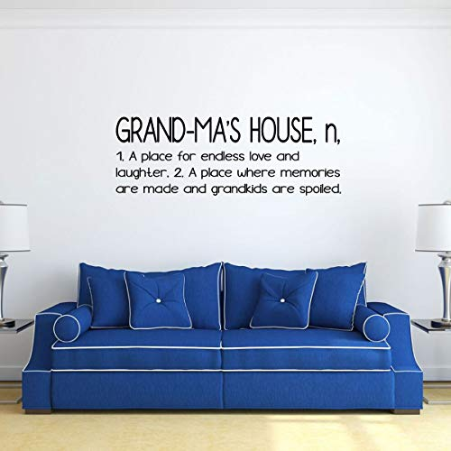'Grand-Ma's House' Wall Decal - Grandchildren Fill A Space - Grandmother's Vinyl Gift for Home Decor, Family Room or Living Room Decoration