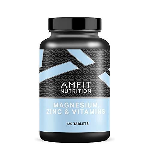 Marca Amazon - Amfit Nutrition Magnesio, Zinc y Vitaminas (ZMA), 240 tabletas