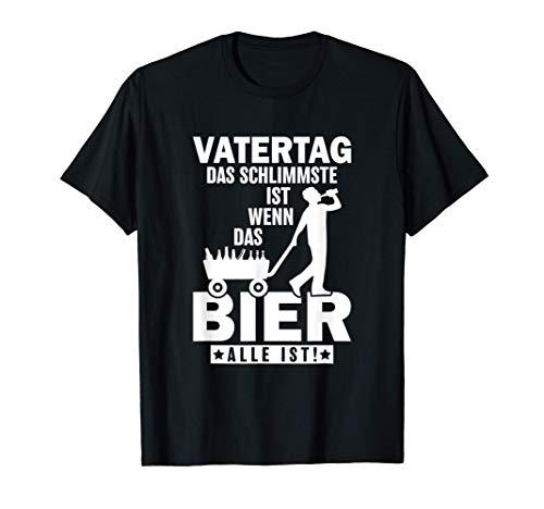 Herren Vatertag Bier Saufen Bollerwagen Papa T-Shirt