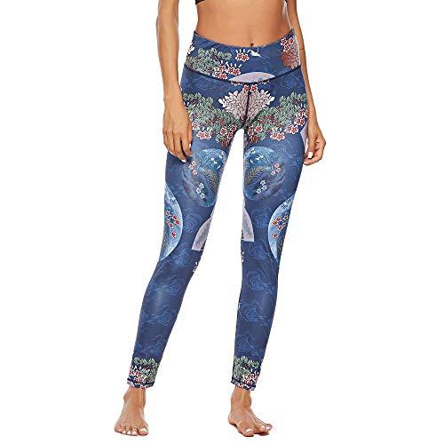 ZARLLE Leggings Estilo Chino impresión Pantalones de Yoga Fitness Leggings Estampados gluteos Leggins Mujer Push up Pantalon Yoga Leggins Efecto Piel Ropa Deportiva Mujer Elasticos Fitness