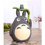 Yuan Ou Hucha Vecino Totoro alcancía Resina Totoro figuritas Estilo japonés Moneda Hucha marrón B