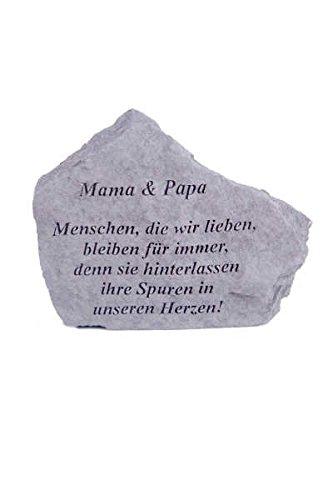 Vidroflor Gedenkstein Mama & Papa. aus Steinguss 18 x 14 cm Grabschmuck