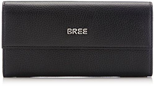BREE Nola 100,combination gra. 214900100 Damen Geldbörsen 19x9x3 cm (B x H x T), Schwarz (black 900)