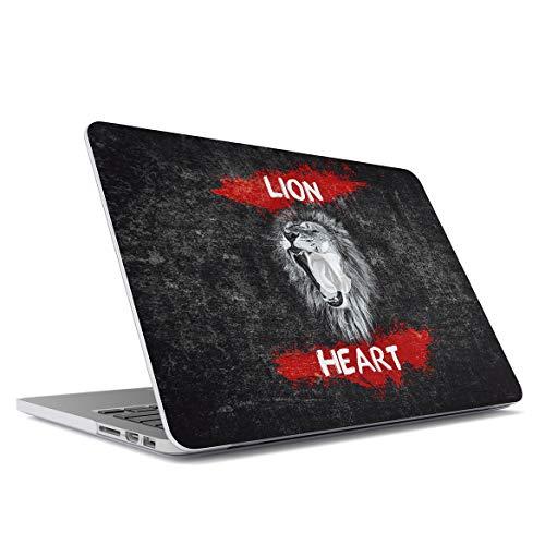 """Custodia Sottile in Plastica Rigida Compatibile Con il Macbook Pro 15"""" Modello: A1707 A1990 (2016-2018) Leone Frasi Lion Savage Animal Black Marble Quote Safari Tiger Lion Head Exotic Hard Plastic"""
