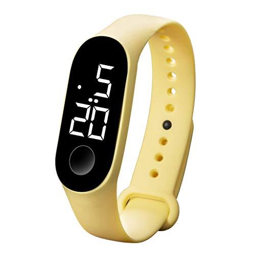 electronic watches LED Electronic Sports Luminous Sensor Watches Fashion Men and Women Watches (I)