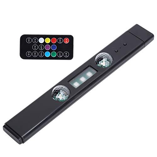 Tira de luces LED para automóvil, D88 5V 3W Luz ambiental para automóvil Atmósferas inalámbricas Luz Control remoto de música Lámpara decorativa con atmósfera romántica, para automóvil, fiesta