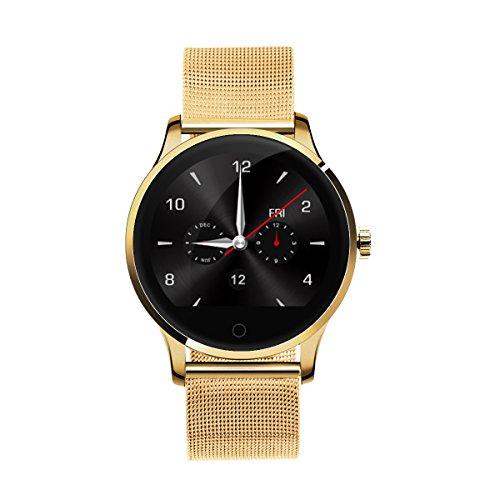 K88H Smart Watch Orologio Intelligente Pedometro Frequenza Cardiaca Chiamata/SMS Reminder Monitor di Sonno Oro ¡