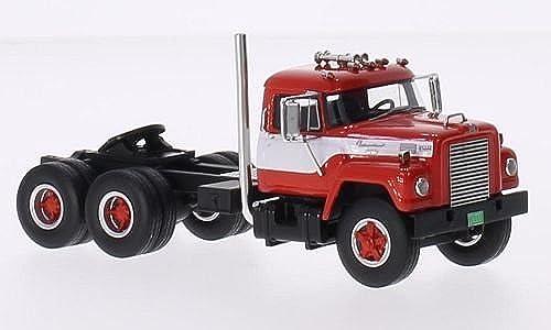 International Harvester Fleetstar F-2000-D, rot Weißs, 1963, Modellauto, Fertigmodell, Neo 1 64