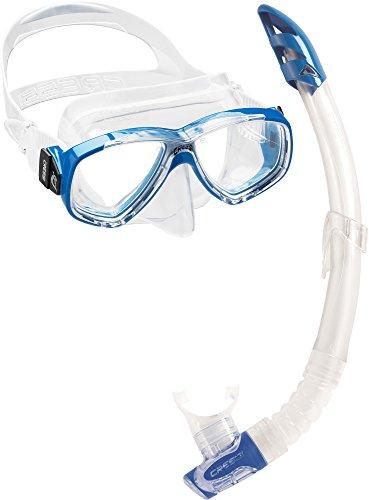 Cressi Perla & Gamma - Combo Set Tauchmaske und Schnorchel, Blau, Einheitsgröße