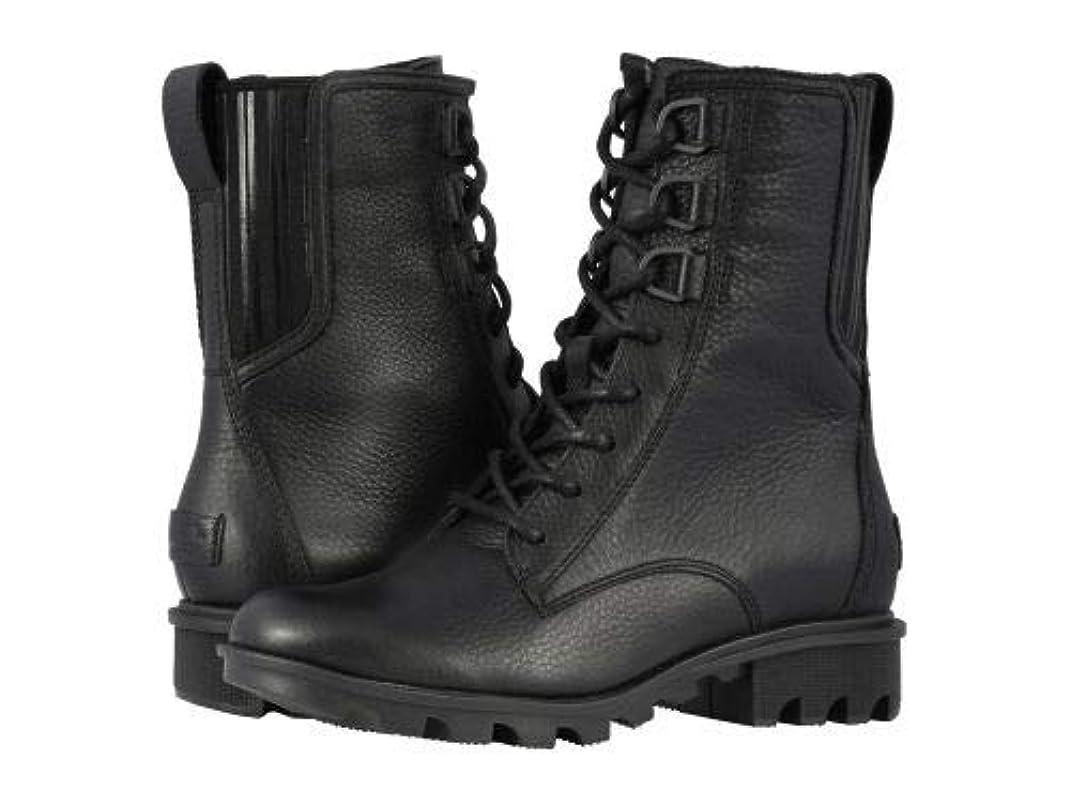 蒸留する交渉するサスペンドSOREL(ソレル) レディース 女性用 シューズ 靴 ブーツ レースアップブーツ Phoenix(TM) Lace - Black Full Grain Leather [並行輸入品]