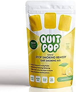 QuitPop/Natural Stop Smoking Remedy & Quit Smoking Solution to Help Reduce Cravings & Replace Smoking/Safe & Easy Way to Quit (5 Pack, Lemon Fresh)