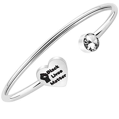 BNQL Black Lives Matter Bracelet BLM Wristbands Gifts Resistance Jewelry BLM Anti-Racism Gifts (cuff)
