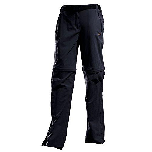 Regatta Damen Xert Stretch Zip-Off-Hose II Schwarz 21