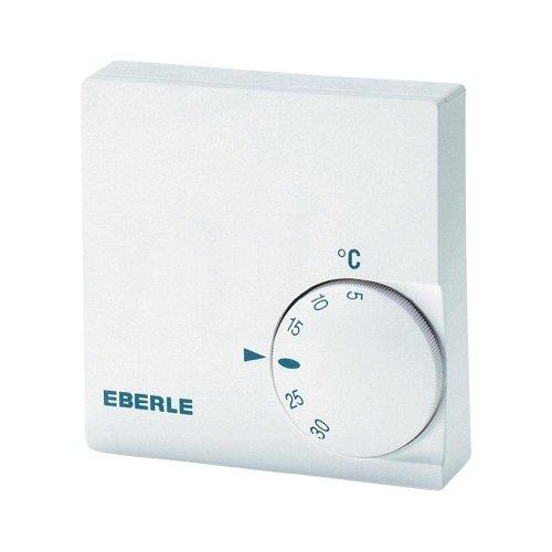 Eberle Controls 111110251100 Raumtemperaturregler RTR-E 6124 (für Wandbesfestigung, für Zentral-, Warmwasserfußboden-, Elektroheizungen usw., 1 Öffner)