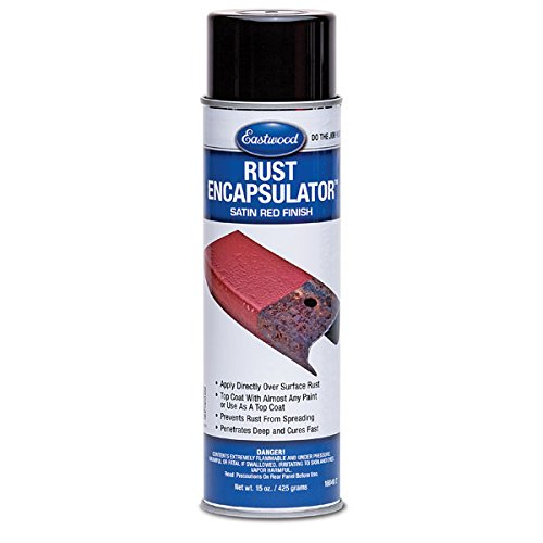 Eastwood Satin Red Rust Encapsulator 15 oz Aerosol Prevents Rust Corrosion Epoxy Fortified Low VOC Formula